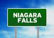 Niagara Falls Highway Sign