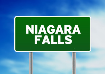 Niagara Falls Highway Sign