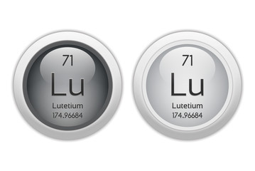 Lutetium - two glossy web buttons