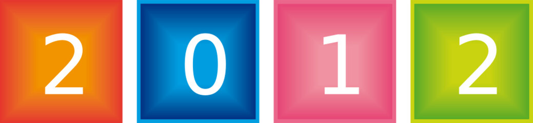 2012 cubes colorés