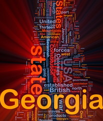 Georgia state background concept glowing