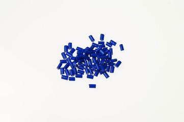 Kunststoffgranulat Blau