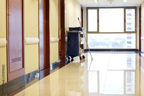 Empty corridor of hospital