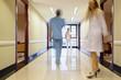 Staff walking in hallway