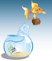 business goldfish went