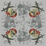 Pirate Skull and Crossbones Bandana poster