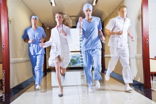 Medical Team Running