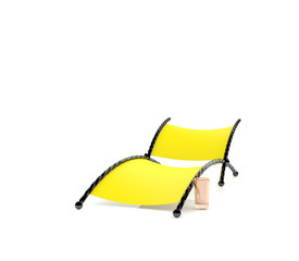 Yellow chaise lounge