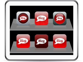 Blog red app icons.
