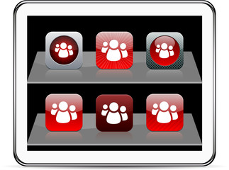 Forum red app icons.