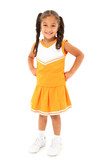 Adorable Girl Child Cheerleader in Uniform