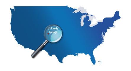 Colorado Springs, Colorado, États-Unis, USA - localisation