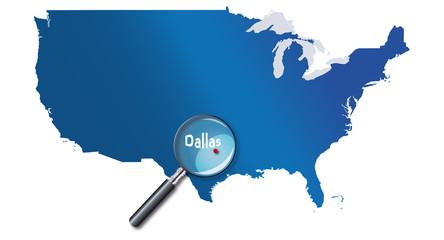 Dallas, Texas, États-Unis, USA - localisation