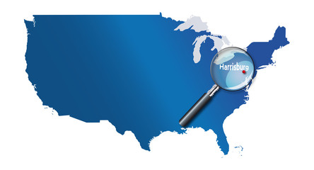 Harrisburg, Pennsylvanie, États-Unis, USA - localisation