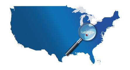 Lexington, Kentucky, États-Unis, USA - localisation