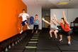 teenagers working out at a gym