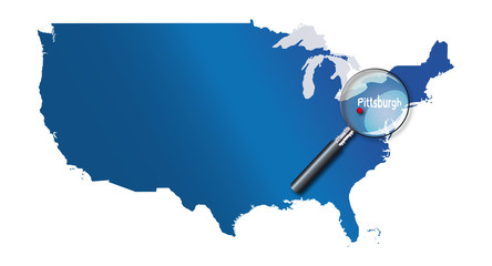Pittsburgh, Pennsylvanie, États-Unis, USA - localisation - Towns