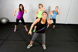 Fototapety Zumba class for women at a gym