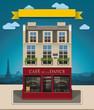Vector European cafe XXL icon