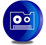 Backup glossy icon poster