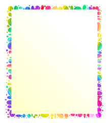 Psychedelic colourful frame/ message holder