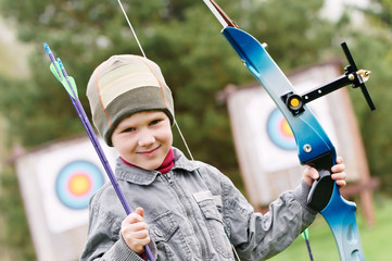 Child Archer with bow and arrows