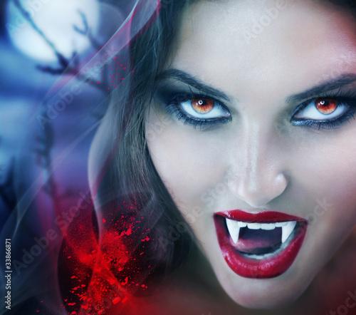 Staande foto Volle maan Vampire