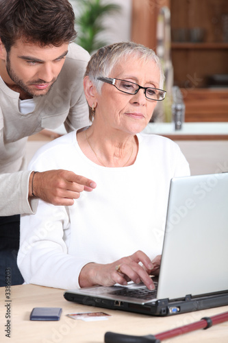 older woman and younger man