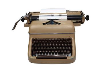 leeres blatt in schreibmaschine