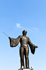 Bronze ringmaster statue
