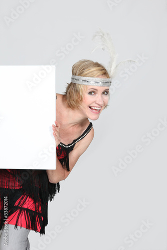 woman in Charleston costume