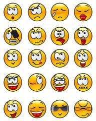Set of avatars. Many  various emotions.
