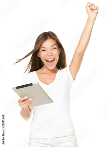 Winning on tablet touch pad computer