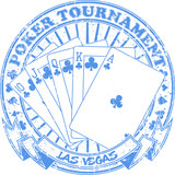 Poker tournament stamp poster