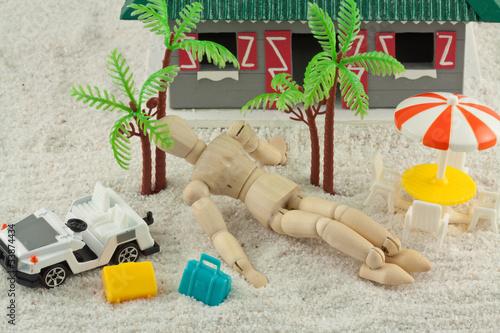 concept vacances tropicales