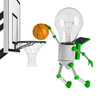solar powered light bulb robot - basketball