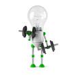 solar powered light bulb robot - fitness