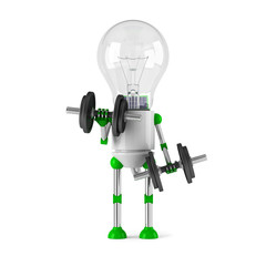 solar powered light bulb robot - fitness
