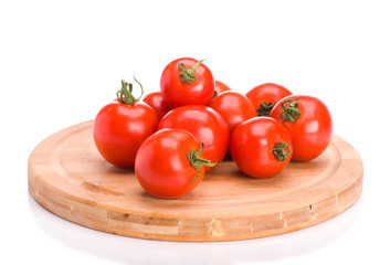 A bunch of tomatoes