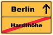 Schild Berlin Hardthöhe