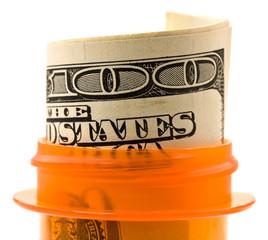 Money in the pill bottle