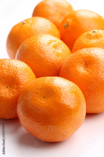 Closeup of fresh tangerines
