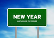 New year Highway Sign