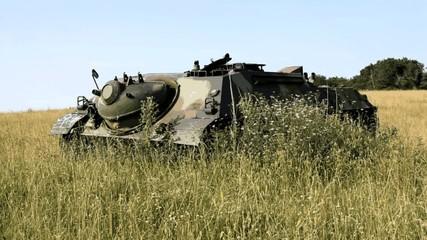 zugewachsener Panzer