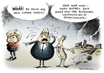 Kohl Merkel Europa