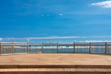 terrasse balcon, plage de Saint-Pierre, île de la Réunion
