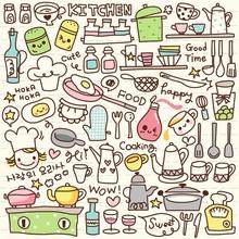 Mignon trucs cuisine doodle