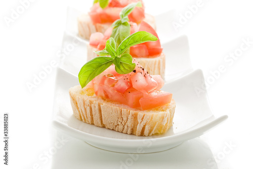 Bruschetta Siciliana - Isolated