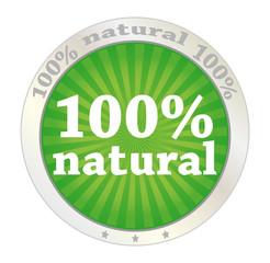 100 percent natural product label