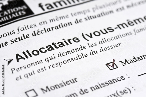 Demande d'allocations familiales